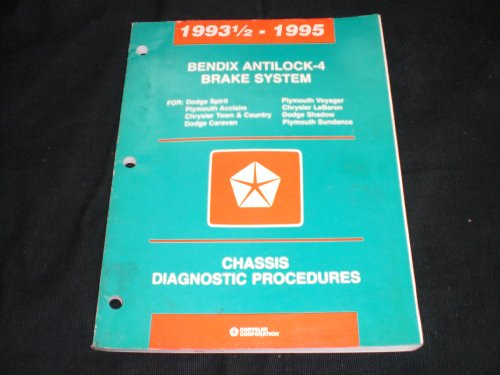 1993 1/2- 1995 Bendix Antilock-4 Brake System Dodge Sprint-caravan-shadow, Plymouth Acclaim-voyager-sundance and Chrysler Town and Country- Lebaron
