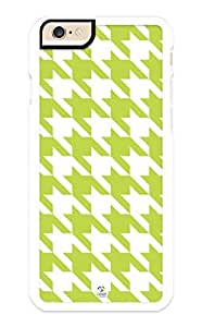 iZERCASE iPhone 6 PLUS Case Green Houndstooth Pattern RUBBER CASE - Fits iPhone 6 PLUS T-Mobile, Verizon, AT&T, Sprint and International