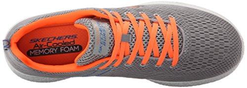 Equalizzatore Skechers - Doppio Gioco Herren Mokassin Grau / Orange