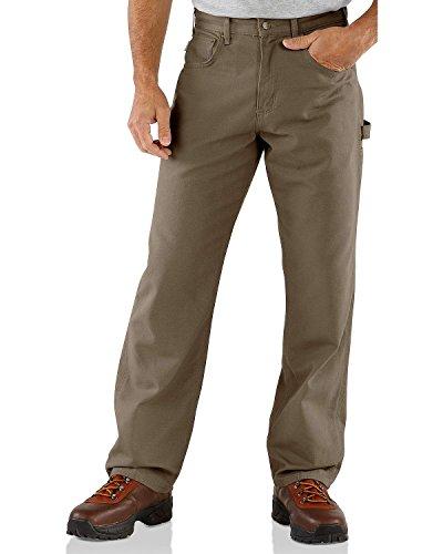 Carhartt Men's Loose Fit Five Pocket Canvas Carpenter Pant B159, Mushroom, 38W X 30L (Clothing Knife)