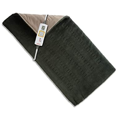Sunbeam 2013-912 Xpress Heat  Microplush Heating Pad for Quick Pain Relief,  Extra Large (12  x 24 ),Olive