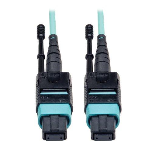 TRIPP LITE N844-03M-12-P 6FT 3M FIBER MTP/MTP AQUA MPO PATCH CABLE 12 40GBE OM3 PLENUM