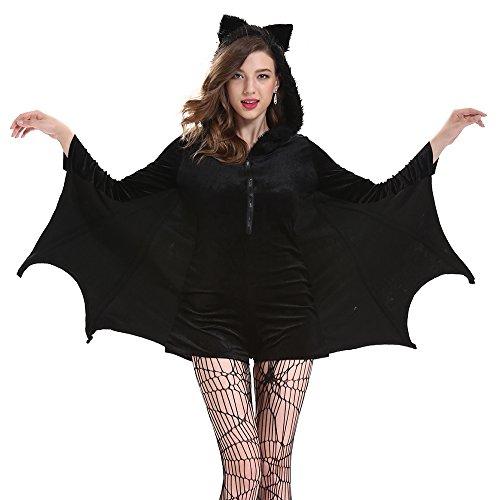 SLJ Women's Cozy Bat Costume Plus Size