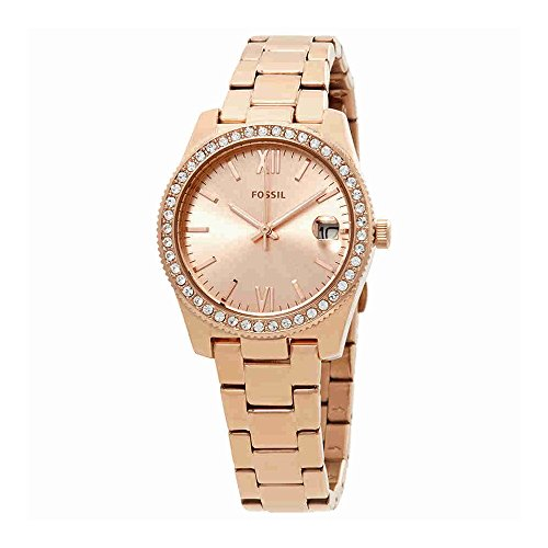 Fossil Women's 'Scarlette' Quartz Stainless Steel Casual Watch, Color:Rose Gold-Toned (Model: ES4318) by Fossil