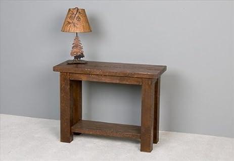 Amazon Com Barnwood Sofa Table Honey Pine Kitchen Dining
