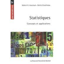 STATISTIQUES : CONCEPTS ET APPLICATIONS