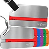Two Privacy Luggage Tags Stainless Steel Metal ID Bag Tag With Lifetime Never Lost Guarantee