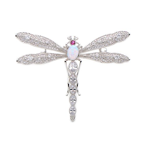 - WULI & BABY Luxury Crystal Copper Dragonfly Brooches Men Women's Weddings Banquet Party Brooch Pins