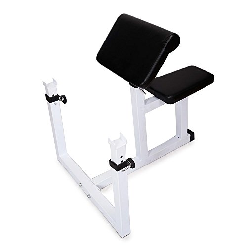 Bonnlo Fitness Preacher Curl Weight Bench Seated Preacher Isolated Dumbbell Biceps Arm Curl Bench Machine by Bonnlo
