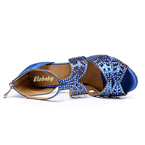 Leather 78 45 Donna Pu Scarpe Per Evening Da Modern taglia Blue We Ballroom Waltz L Tango Latino Samba 33 yc Ballo Black wRFxngZ