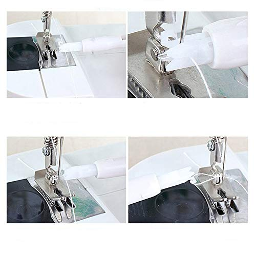 HGJVBFGH1 Sewing Machine Needle Threader String Device Applicator Thread Sewing Tool White
