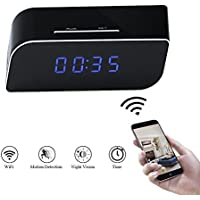 Clock Camera WIFI Indoor Mini Video Recorder TANGMI Motion Detection Surveillance Camcorder for Home/Office Security 160°Wide View Angle