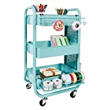 Recollections Gramercy Cart, Teal – 3 Tier