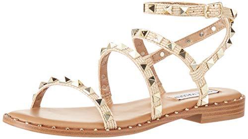Steve Madden Women's Travel Sandal, Raffia, 5.5