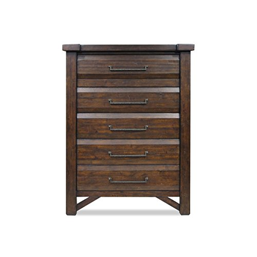 Steve Silver Timber 5-Drawer Chest in Distressed Chestnut Finish ()