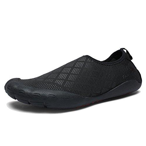 CIOR FANTINY Herren Wasser Schuhe Outdoor Sport Slip On Sneakers 14 Löcher Drainage System Quick Dry und Multifunktional G.black