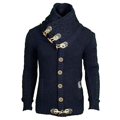 Veste En Blazer Marine Hiver Loisir Dihope Homme Tricot shirt Sweat Blouson Chandail Jacket Coat Automne Cardigan Outwear Longues Pull Manches Manteau Casual 1qn1fxt