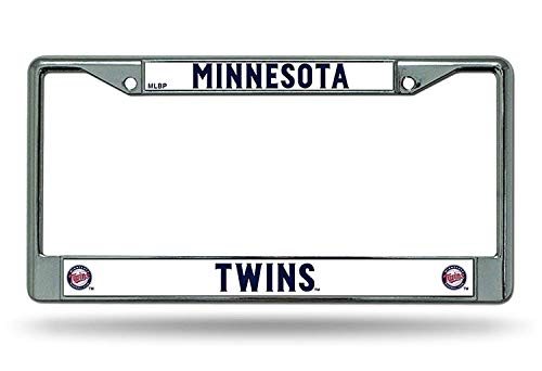 B.Fighting Minnesota Twins Chrome Frame Metal License Plate Tag Cover Baseball