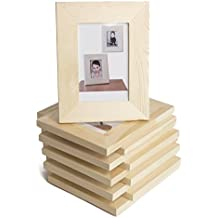 Wood Unfinished Photo Picture Frames 5x7 Inches Great for DIY Kid's Craft Projects Set of 10
