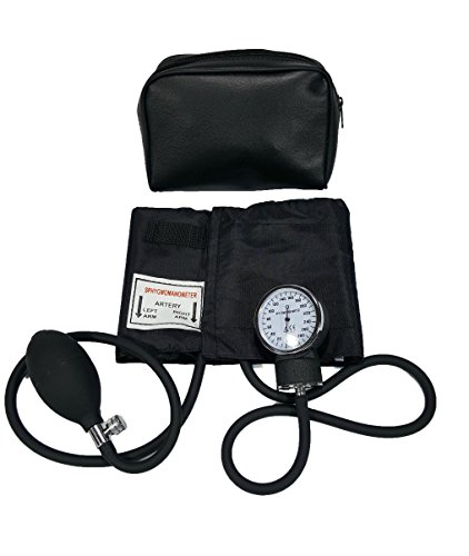 (Child Blood Pressure Cuff - Deluxe Aneroid Sphygmomanometer Cuff and Carrying Case Black)