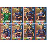 Panini FIFA 365 Adrenalyn XL 2017 FC Barcelona Logo Badge and Team Mates Trading Cards