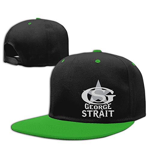 LEILEer George Strait Unisex Contrast Hip Hop Baseball Cap Green]()