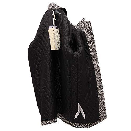 Embroidered Wool Monnalisa Blend Jacket Girl Coat 8961y Cappotto Bianco Bimba nero OxfgTHW