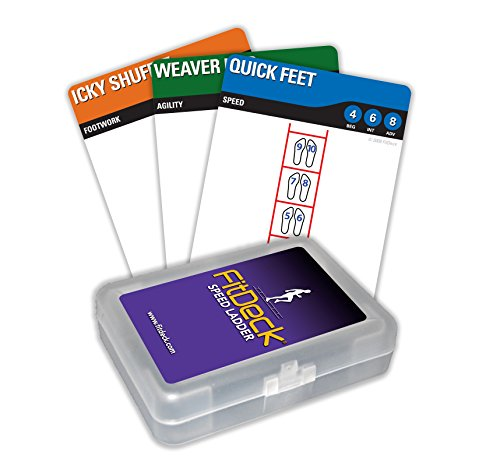 Fitdeck Exercise Playing Cards for Guided Fitness Equipment Workouts, Speed - Partner Ladder