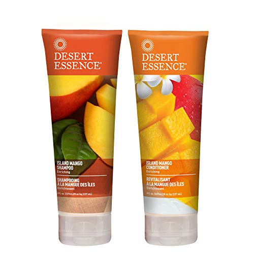 Desert Essence Island Mango Shampoo and Conditioner Bundle - 8 fl oz ea ()