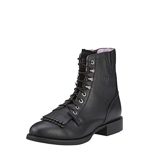 ARIAT Heritage Lacer II Boot Black Deertan Size 7.5 C/Wide US