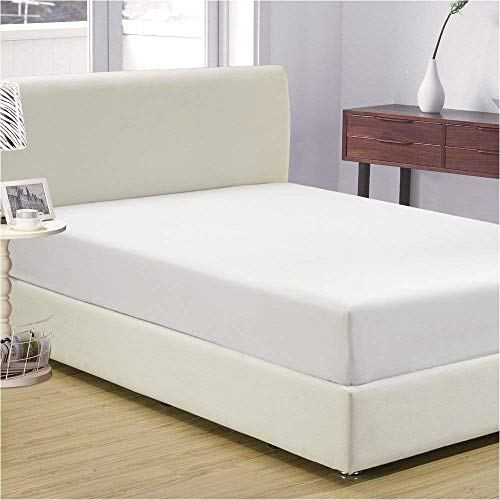 - 400 Thread Count 100 Percent Cotton Fitted Sheet King 15 Inch Deep Pocket Long Staple Cotton 1 Fitted Sheet Only White Solid Soft Breathable Sateen Weave Elastic All Around The Mattress