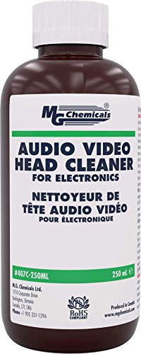 MG Chemicals 407C-250ML Audio/Video Head Liquid Cleaner, 250 ml Bottle (Head Cleaner For Vcr)