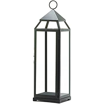 Zingz and Thingz Extra Tall Contemporary Lantern in Black