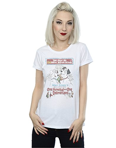Disney Women's 101 Dalmatians Retro Poster T-Shirt X-Small White]()