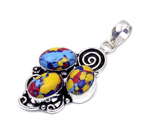 Nimbark Spiritual Jewelry Very Nice Mosaic Jasper Handmade Jewelry Pendant 2''
