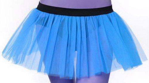 Blue Puffu Tulle Tutu Skirt Free Shipping by alltofashion