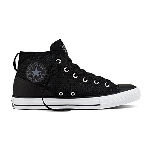 Converse Mandrin Taylor Tout Étoiles Syde Street Mid Sneaker Noir / Cool Gris / Blanc Taille 11 Hommes / 13 Femmes