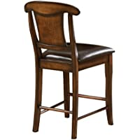 Homelegance 626-24 Counter Height Chair, Warm Oak Finish, Set of 2