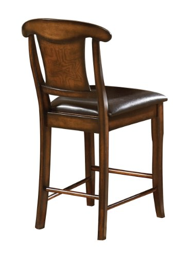 Homelegance 626-24 Counter Height Chair, Warm Oak Finish, Set of 2 price