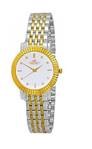 Adee Kaye Women's Japanese-Quartz Watch with Stainless-Steel Strap, Two Tone, 14 (Model: ()