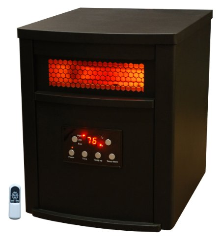 Lifesmart Products LS6DMIQHX Infrared Heater, 1500-watt