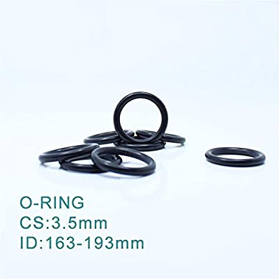 YINGJUN CS3.5mm EPDM O Ring ID 163//168//173//183//193x3.5 mm O-Ring Gasket Seal Exhaust Mount Rubber Insulator Grommet 10PCS ORING Ring Gasket Size : ID163x3.5mm