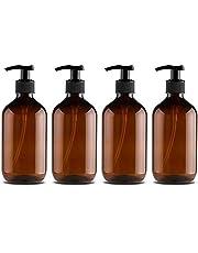 Calayu Dispensers van 500 ml; lege, navulbare pompflessen voor zeep, lotion en shampoo, voor de keuken en de badkamer; 4 stuks