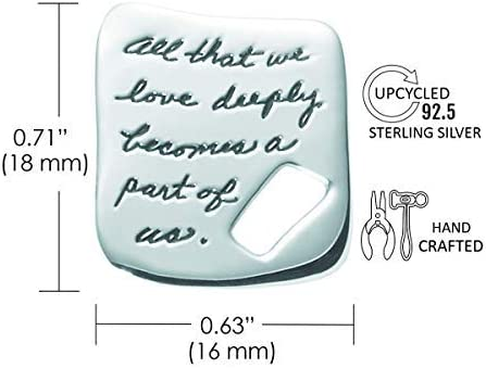 BB Becker Part of Us Sterling Silver Necklace Forever Love Necklace with Helen Keller All That We Love Quote
