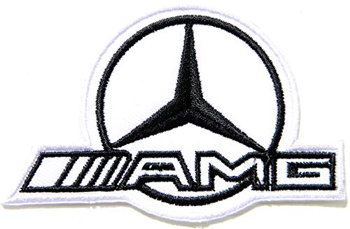 White Mercedes Benz AMG Sport Car Racing Patch Iron on Sewing Embroidered Applique Logo Badge Sign Embelm Craft Gift]()