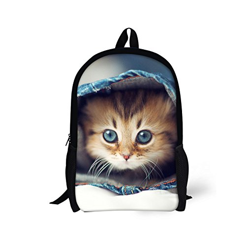 Bigcardesigns Lovely Kitty Backpack Schoolbag Book Bag Satchel Travel]()