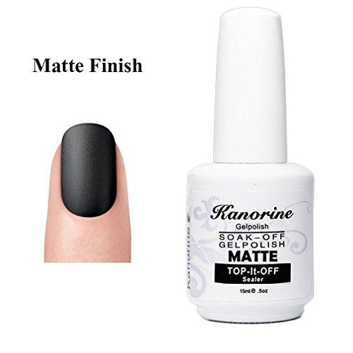 Kanorine Matte Top Coat UV/LED Soak-Off Nail GelPolish Lacquer Manicure Matte Finish Top Coat (MatteTopCoat-15ml)