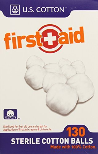 Sterile Cotton Balls, 130 Count by First Aid