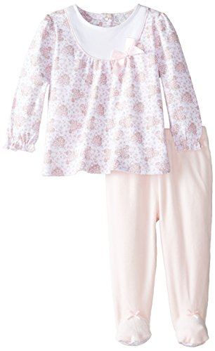 Quiltex Baby-Girls Newborn Stars Footed Coverall, Pink, 6-9 Months
