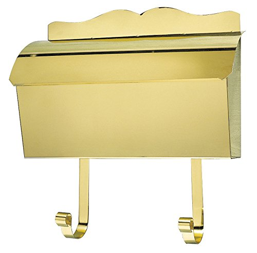 Qualarc MB-900-PB Provincial Collection Polished Brass Wall Mount Roll Top Mailbox by Qualarc